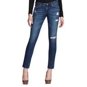 AG Womens Size 32 M Dark Wash Silt Cigarrette Leg